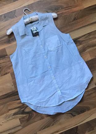 Легкая коттоновая блуза  новая с биркой