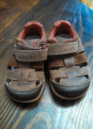 Кожаные летние туфли босоножки clarks размер 20,5