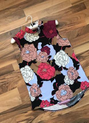 Блуза в цветочном принте