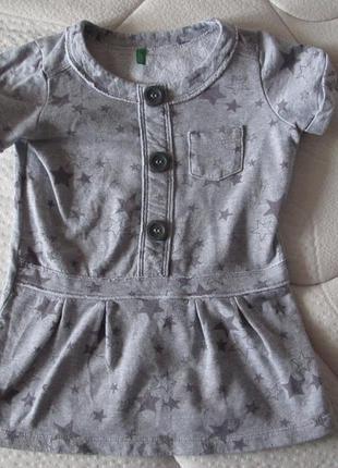 Платье с коротким рукавом benetton на возраст 2-3 года