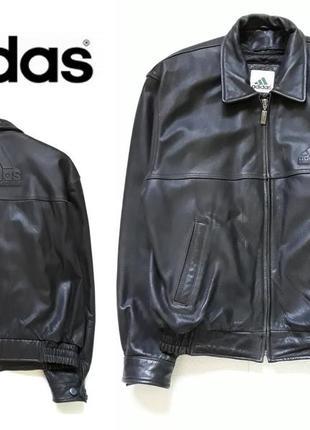 Мужская кожаная курточка adidas