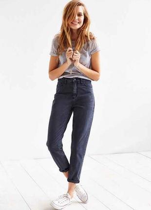 Крутые джинсы высокая посадка(мом джинсы) denim&co