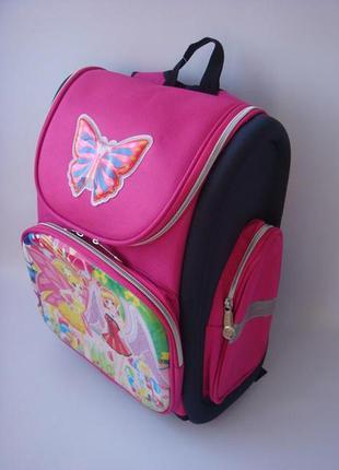 Школьный, каркасный, ортопедический рюкзак для девочки