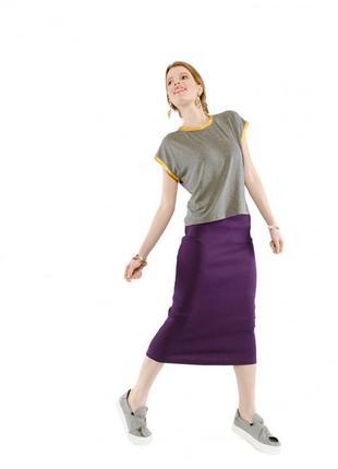 Вязаная юбка рубчик kaleidoscope