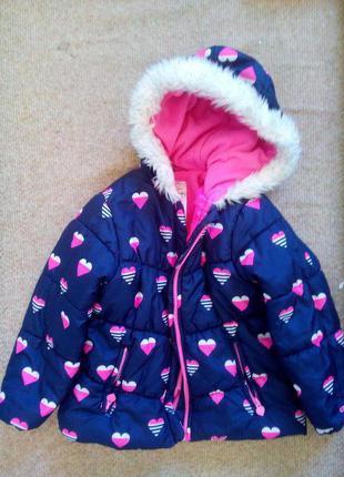 Детский зимний комплект из куртки и комбинезона