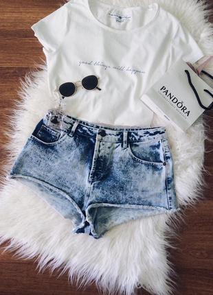 Велюровые джинсовые шорты