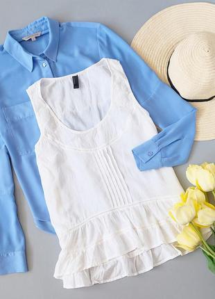Нежная хлопковая блузка vero moda с кружевными вставками на плечиках 🌸