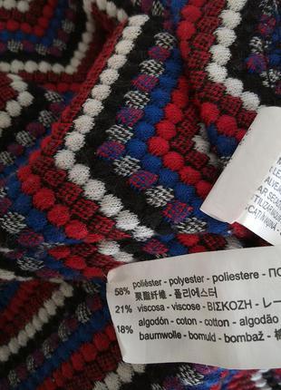 Стильное латье zara с эластичной горловиной и разноцветным геометрическим принтом5