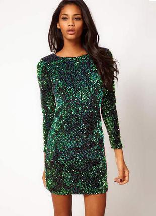 Мини-платье в пайетках