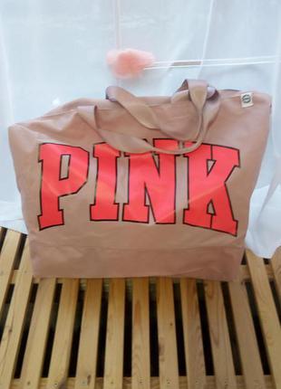 Огромная дорожная сумка pink от victoria`s secret