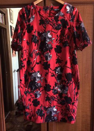 Стильное платье по фигуре свободного покроя
