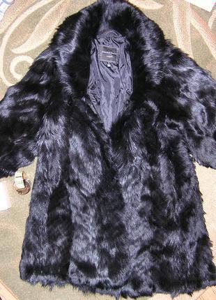 Шуба полушубок пальто мех лиса