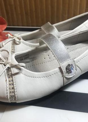 Очень красивые кожаные туфельки фирмы betsy 34 размера 22,5 по стельке