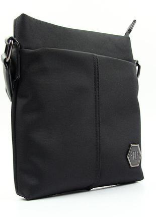 Мужская текстильная маленькая сумка через плечо вертикальная планшетка