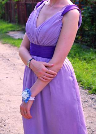 Вечернее длинное нежное коктейльное платье