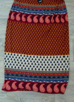 Новая шикарная натуральная юбка. размер 10-14