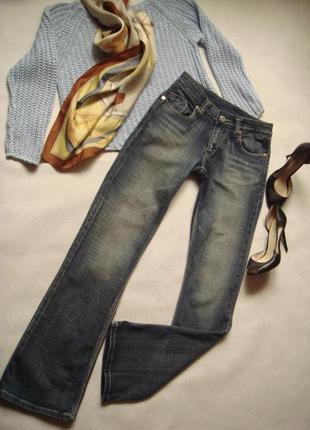 Синие тертые джинсы victoria beckham rock&republic