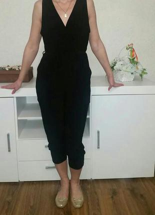 Нoвый черный ромпер, комбинезон от new look!
