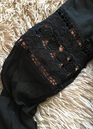 Маленькое чёрное платье с кружевом + подарок 🎁