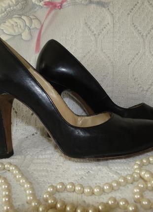 Черные кожаные туфли  salamander германия