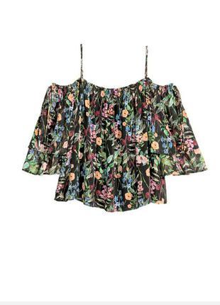 H&m летняя сатиновая блузка