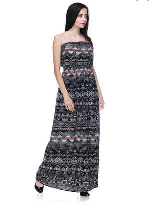 Платье бюстье в пол лето