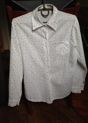 Хлопковая рубашка в звездочку