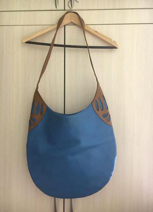 Голубая сумка-мешок