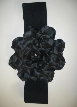 Пояс-резинка с шикарным цветком