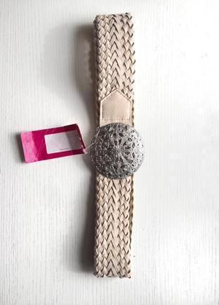 Пояс плетеный с железной бляшкой