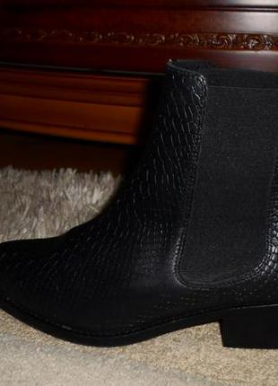 Ботинки-челси класса люкс.шикарные бренд.ichi,полн.кожа,рептилия,португалия