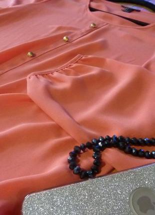 Красивая коралловая блузочка forever 21