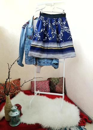 Нарядная шелковая юбка колокол mango