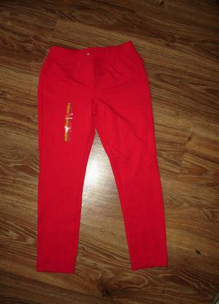 Новые трикотажные брюки, джеггинсы  marks&spencer на 7-8 лет