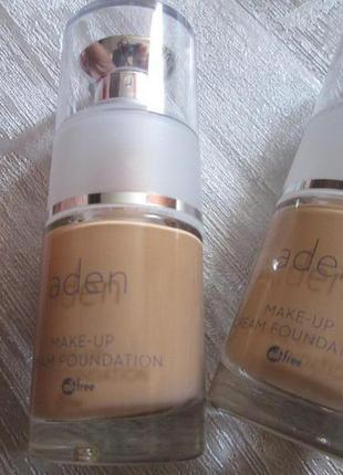Aden тональная основа cream foundation (02/natural) 15 ml
