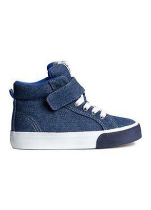 Немецкие джинсовые кроссовки, высокие кеды, хайтопы h&m  р.28-29/18см в идеале