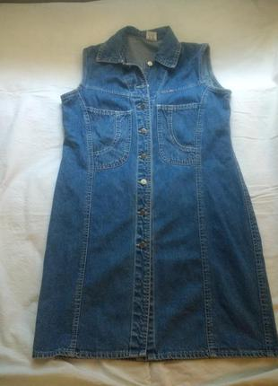 Платье-рубашка, деним, джинс,l