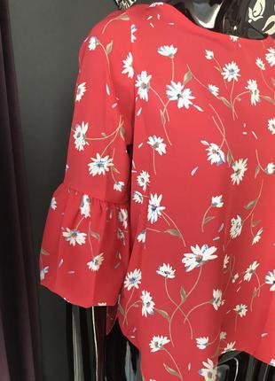 Блуза красная/ блуза в цветы2