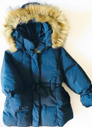 Зимняя куртка с бантиком 3 года