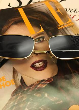 Узкие чёрные очки в стиле sci-fi (скай фай), матрица