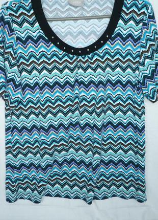 Сanda premium германия яркая футболка блуза туника 95% вискоза 5% эластан р. 52