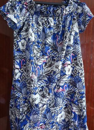 Красивое платье прямого кроя с оголенными плечами с-м
