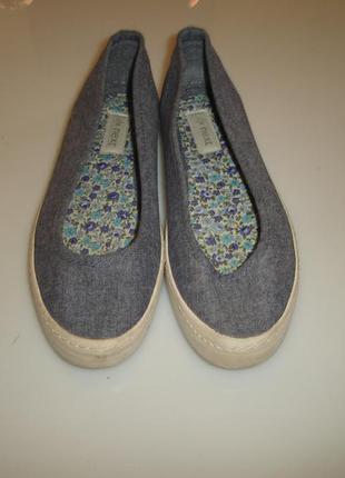 Next спортивные туфли, мокасины р 36 (uk 3.5) , стелька 22,5 см под джинс