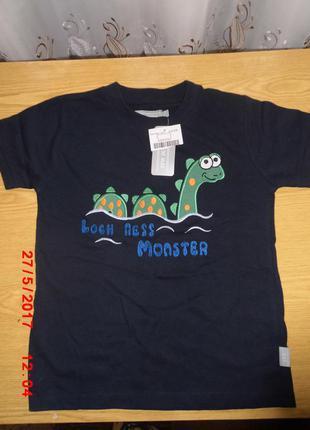 Новая мальчиковая футболка темно-синего цвета