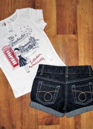Летний комплект: футболка и шорты denim, рост 104-110 см