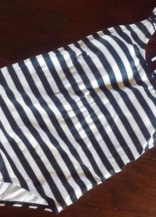 Полосатый, стильный купальник цельный купальник2 фото