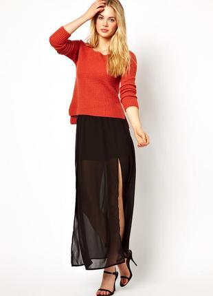 Vero moda брендовая макси юбка из англии в тренде, но не как у всех