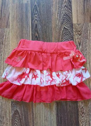 Новая юбочка на девочку, италия, 3-7лет