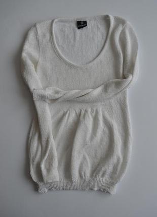 Базовая летняя белая кофта