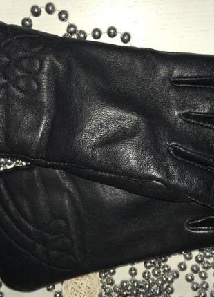 Кожаные зимние перчатки 8 размер